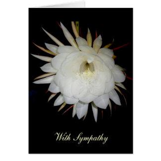 Tarjeta de condolencia Noche-Floreciente del cirio