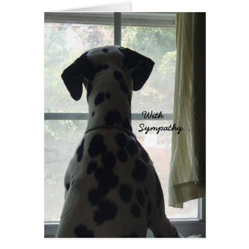 Tarjeta de condolencia -- Pérdida de perro