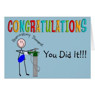 Tarjeta de Congrats de la graduación del terapeuta