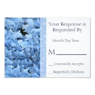 Tarjeta de contestación azul del Hydrangea Invitación 8,9 X 12,7 Cm