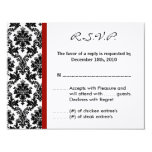 tarjeta de contestación de 4x5 R.S.V.P. - carmesí Comunicados