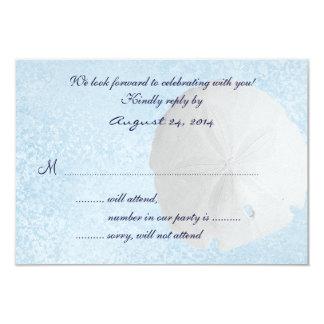 Tarjeta de contestación de la invitación del boda