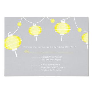 """Tarjeta de contestación de la linterna de papel invitación 3.5"""" x 5"""""""