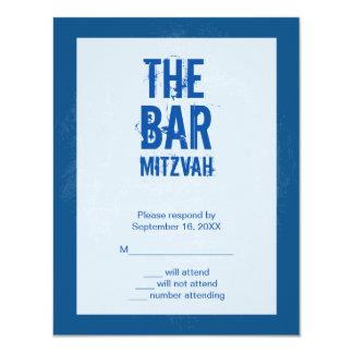 Tarjeta de contestación de Mitzvah de la barra de Invitación 10,8 X 13,9 Cm