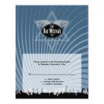 Tarjeta de contestación de Mitzvah de la barra del Invitación 10,8 X 13,9 Cm
