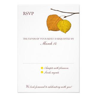 Tarjeta de contestación de RSVP de los pares de As Invitaciones Personalizada