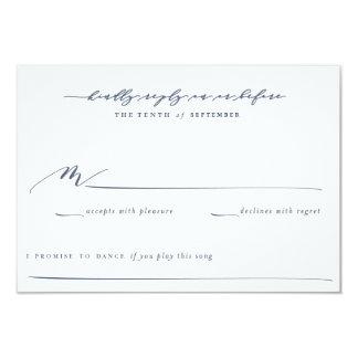 """Tarjeta de contestación del boda del jardín de invitación 3.5"""" x 5"""""""