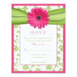 Tarjeta de contestación floral del boda del invitación 10,8 x 13,9 cm