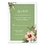 """Tarjeta de contestación floral del boda del invitación 3.5"""" x 5"""""""
