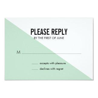 """Tarjeta de contestación moderna retra del boda del invitación 3.5"""" x 5"""""""