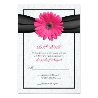 Tarjeta de contestación rosada del boda de la anuncio personalizado
