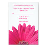 Tarjeta de contestación rosada del boda del invitacion personalizada