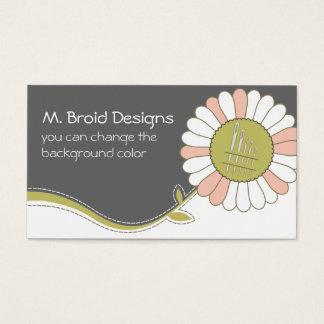 tarjeta de costura de las agujas de la flor de la