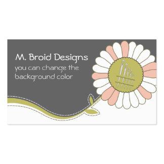 tarjeta de costura de las agujas de la flor de la tarjetas de visita