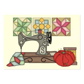 Tarjeta de costura del recinto del Crafter del reg Plantilla De Tarjeta Personal