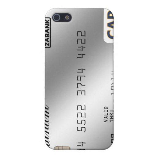 tarjeta de crédito de la astilla iPhone 5 carcasas