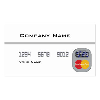 Tarjeta de crédito (espacio en blanco) tarjetas de visita
