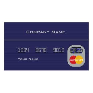 Tarjeta de crédito plantilla de tarjeta de negocio