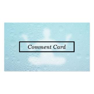 tarjeta de cristal cocida al vapor del comentario tarjetas de visita