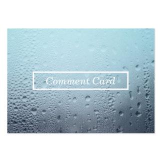 tarjeta de cristal cocida al vapor del comentario tarjetas de visita grandes