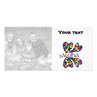 Tarjeta de cristal de la foto de la mariposa de la tarjeta personal con foto