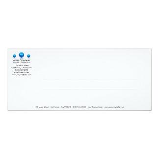 Tarjeta de cristal de mármol de la invitación de invitación 10,1 x 23,5 cm