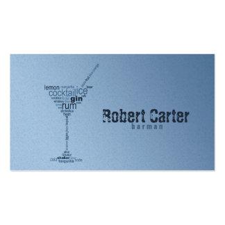 Tarjeta de cristal de Martini del club del Pub de Tarjetas De Visita