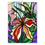 Tarjeta de cristal del lirio de la mancha tarjeta de felicitación