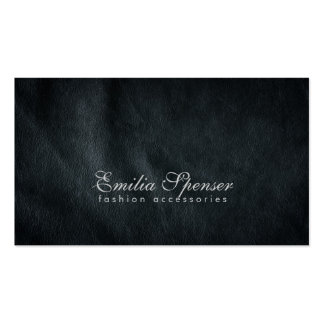 Tarjeta de cuero gris oscuro llana simple de la mo tarjeta de visita