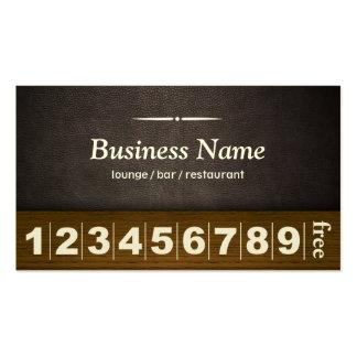 Tarjeta de cuero oscura de la lealtad del negocio  tarjeta de negocio