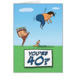 Tarjeta de cumpleaños: 40 es un retroceso con el p