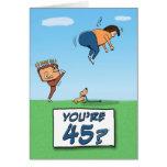 Tarjeta de cumpleaños: 45 es un retroceso con el p