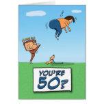 Tarjeta de cumpleaños: 50 es un retroceso con el p