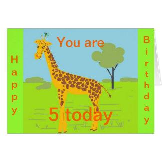 Tarjeta de cumpleaños 5 hoy