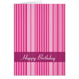 Tarjeta de cumpleaños abstracta