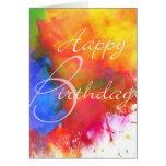 Tarjeta de cumpleaños abstracta de la acuarela