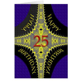 Tarjeta de cumpleaños abstracta para los 25 años