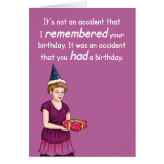 Tarjeta de cumpleaños accidental