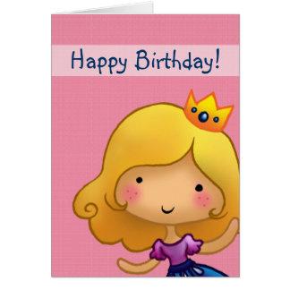 tarjeta de cumpleaños adaptable de la pequeña