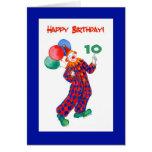 Tarjeta de cumpleaños adaptable del payaso
