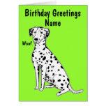 Tarjeta de cumpleaños adaptable del perro dálmata