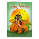 Tarjeta de cumpleaños - afroamericano