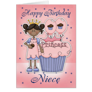 Tarjeta de cumpleaños agradable - princesa de la m