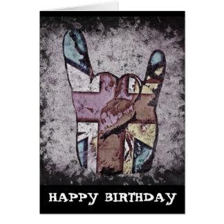 Tarjeta de cumpleaños al azar del heavy del Grunge