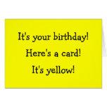Tarjeta de cumpleaños amarilla