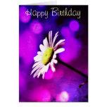 Tarjeta de cumpleaños Amethyst rosada de la margar