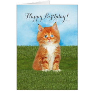 Tarjeta de cumpleaños anaranjada de los ojos