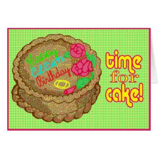 Tarjeta de cumpleaños anónima de 12 del paso de la