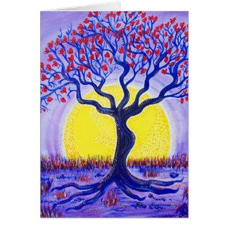 Tarjeta de cumpleaños - árbol de amor entero de Lo