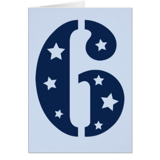 Tarjeta de cumpleaños azul de la superestrella 6